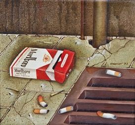 Artwork by Dieter Kraemer, Marlboro, Made of Oil on canvas