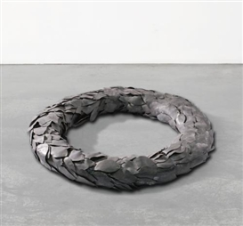 Artwork by Luciano Fabro, Corona D'Alloro-Facsimile (Corona Di Piombo), Made of Lead