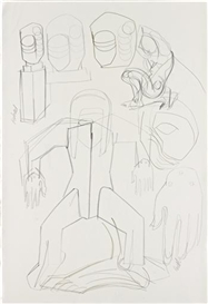 Thomas Houseago, Study for Aluminium Monument