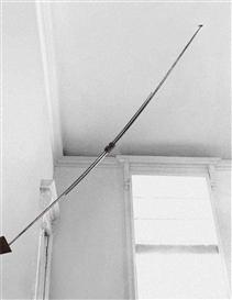Artwork by Gilberto Zorio, Giavellotti con impugnatura (Javelins with Handgrip), Made of Javelins and bronze handgrip