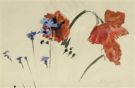 Stanislaw Wyspianski, Poppies and cornflowers