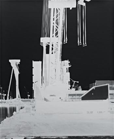 Artwork by Vera Lutter, Kvaerner Werft: November 2000, Made of gelatin silver print