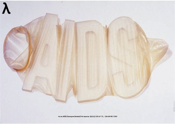 Or Contact the Fight Against AIDS Society, Turkey, 1995 (Design: Bülent Erkmen; Photo: Tülin Altilar)