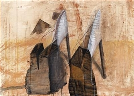 Artwork by Maria Moser, Untitled, Made of mixed media with collage on paper