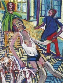Artwork by Heinz Stangl, Sketch, Made of mixed media on paper
