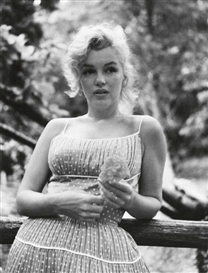 Sam Shaw, 2 Works: Marilyn Monroe (in polka dot dress); Marilyn Monroe