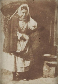 Artwork by David Octavius Hill, Annie Linton, A Newhaven Fisherwoman, Made of Calotype