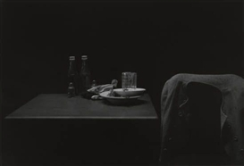 Roy DeCarava, Ketchup bottles, table and coat