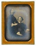 Artwork by Marcus Aurelius Root, Two Women, Made of quarter plate daguerreotype