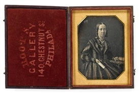 Artwork by Marcus Aurelius Root, 2 works: Female Sitters, Made of quarter plate daguerreotypes
