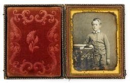 Artwork by Marcus Aurelius Root, Of a Young Boy, Made of quarter plate daguerreotype
