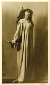 Artwork by Arnold Genthe, 2 works: Julia Marlow as Lady Macbeth, Made of Gelatin silver prints