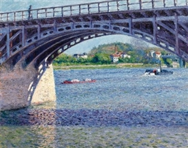 Artwork by Gustave Caillebotte, Le Pont d'Argenteuil et la Seine, Made of Oil on canvas