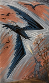 Artwork by Josef Capek, Shot a crow, Made of oil on canvas