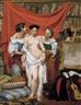 Philippe-Jacques van Bree, DE EERSTE POSE - LA PREMIÈRE POSE. ATELIER DE L'ARTISTE À ROME