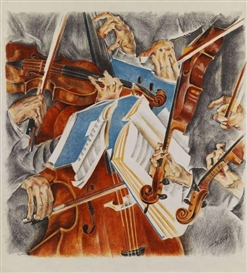 Artwork by Max Oppenheimer, Rosé-Quartett, Made of Lithograph in colors
