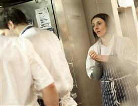 Elpida Hadzi-Vasileva in the kitchen of Pied a Terre