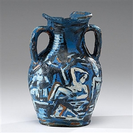 Artwork by Viola Frey, Portland Vase, Made of Bronze