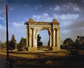 Artwork by Simon Norfolk, King Amanullah's Victory Arch built to celebrate the 1919 Independence from the British. Paghman, Kabul Province,, Made of Digital colour coupler print