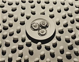 Artwork by Ralph Steiner, Ham and Eggs, Made of Gelatin silver print
