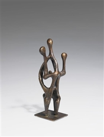 Artwork by Hans Steinbrenner, Familie, Made of Bronze with brown patina