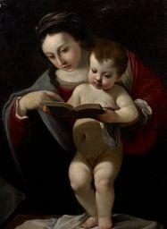 Artwork by Giovanni Lanfranco, Vierge à l'enfant, Made of canvas