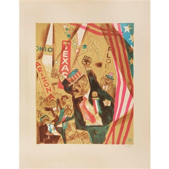 William Gropper 11 Works Courtroom And