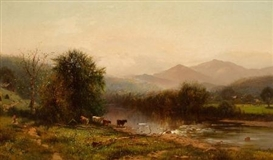 Arthur Parton, 2 works: Berkshire Landscapes
