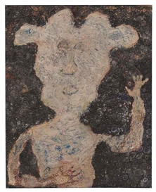 Artwork by Jean Dubuffet, Le Montreur d'agate, Made of oil on canvas