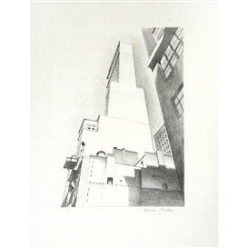 Artwork by Charles Sheeler, Delmonico Building, Made of Lithograph