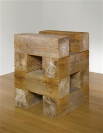 Artwork by Carl Andre, Pyre (Element Series), Made of Western red cedar timbers