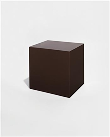 Artwork by John McCracken, Untitled (Brown Block), Made of Polyester resin, fiberglass, and plywood