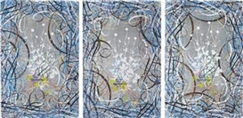 Ryan McGinness, Untitled - Triptych