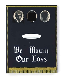Artwork by Kerry James Marshall, We Mourn Our Loss #3, Made of acrylic, glitter and silkscreen ink on panel