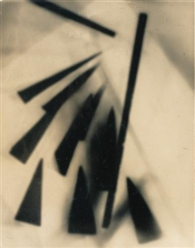 Artwork by Raoul Hausmann, Sans titre (Photogramme), 1954, Made of vintage silver print on velox paper