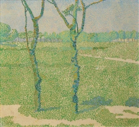 Artwork by Jan Toorop, A landscape with trees, Made of Oil on canvas