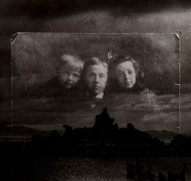 Artwork by Edmund Teske, The Children of Franklin Montrose with Mono Lake, 1976, Made of Gelatin silver print