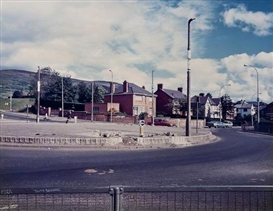 Artwork by Paul Graham, Roundabout, Andersonstown, Belfast, 1984, Made of Vintage chromogenic print