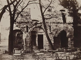 Artwork by Édouard-Denis Baldus, Temple de Diane, Nimes,ca.1862, Made of Albumen print on contemporary card mount