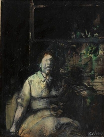 Gregory Gillespie, Seated Figure