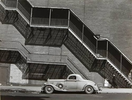 Artwork by Todd Webb, Mister Johnson's Pierce Arrow, NYC, Harlem, Made of Gelatin silver print