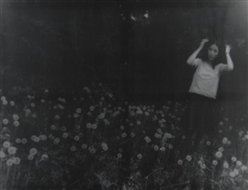 Artwork by Annelies Štrba, Linda in der Wiese, 1992, Made of Inkjet-print on canvas