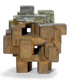 Artwork by Jacques Schnier, Holy Citadel #1, Made of bronze