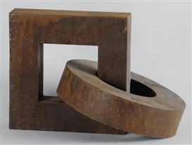 Artwork by Jean Mauboulès, No. 9, Made of Iron object, with rust patina