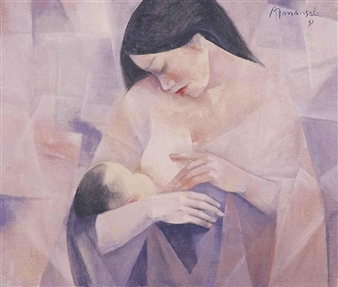Mother and Child By Vicente Manansala ,1981