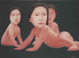 Artwork by Ma Liuming, Baby Series No. 10, Made of oil on canvas