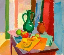 Artwork by Karl Oscar Isakson, Still life, Made of Oil on canvas