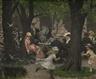 Erik Werenskiold, Scene from a park, Munich