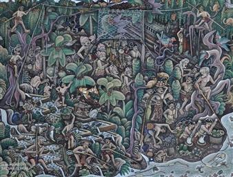 Batuan Qianjar, Bali By Ida Bagus Made Widja ,1974