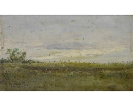Artwork by Isaac Levitan, 'Perviy den' Chetverg ...', Made of oil on panel